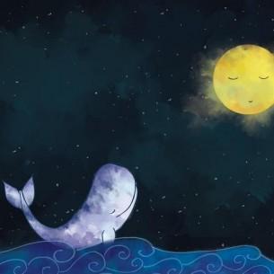 Море в твоих ладошка,  мокрые мочит ножки океан, океан.  Рыбы в нем хороводы...